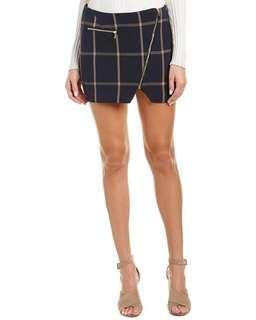 Brand new plaid zipper skirt