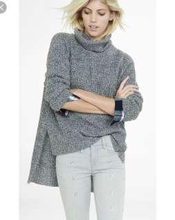 Express high low turtleneck