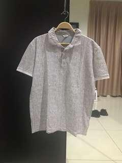 Original Calvin Klein Grey White Shirt (Size L)