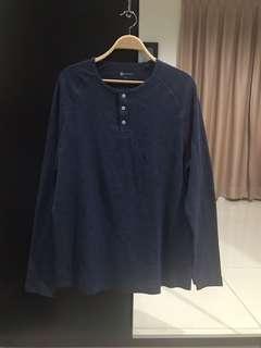 Bonds Blue Cotton Shirt (Size XL)