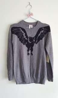 Long graphic eagle sweater *Forever 21*
