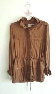 Hooded utility jacket with drawstring waist *Bluenotes*