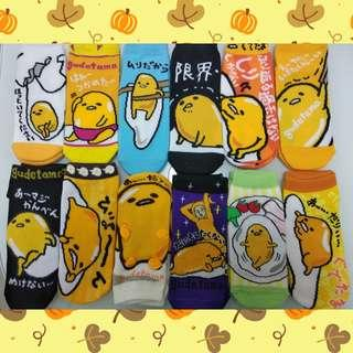 Sanrio gudetama socks 三麗鷗蛋黃哥 懶蛋蛋 梳乎蛋 懶懶蛋 純棉短襪