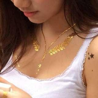 Luxe Tats Luxury Jewelry Tattoos Santorini in Gold Big Set