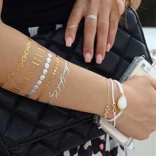 Luxe Tats Luxury Jewelry Tattoos Bora Bora in Gold Big Set
