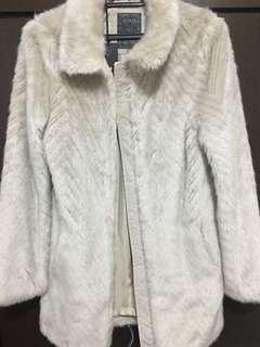 Guess Maela Faux Fur Coat Size XS