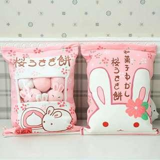 🆕 Mini rabbit Bunny soft toy in pack