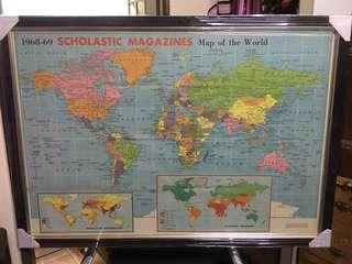 Since 1968-1969 Map of the world (new frame)