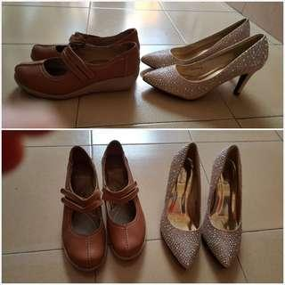 New Dinner shoes (Carlo Rino) and preloved casual shoes(Scholl)