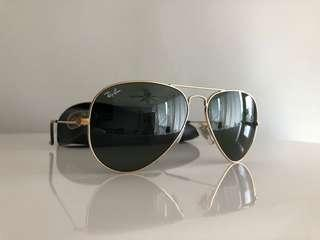 Authentic serialized Ray Ban aviators