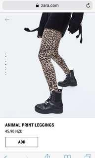 Zara Leopard Leggings XS