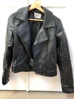 Black leather jacket from Vera Moda