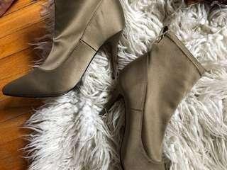 H&M olive booties