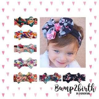 Baby Headband (Floral Ribbon)