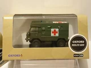 OXFORD MILITARY Land Rover 101 FC Ambulance Nato Green 英國路虎軍車 British Army vehicle 英國英軍救護軍車 1:76 CODE:76LRFCA002(全軍綠色)