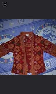 Batik kutubaru maroon