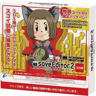 全新 2DS 3DS LL Cyber Save Editor 金手指 最新2代 (日版) + 初回特典 Code