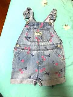 Oshkosh bb baby 12m denim dungaree 幼兒小朋友工人褲