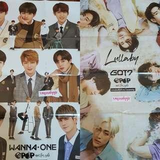 WANNA ONE X GOT7 EPOP Poster & BTS NCT