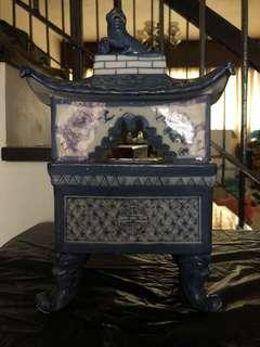 Porcelain Chinese Castle (for display & as container)