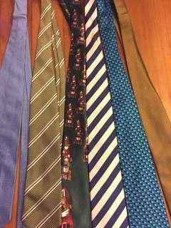 Pure silk ties
