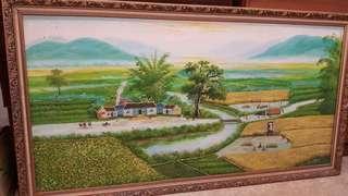 🚚 大幅油畫