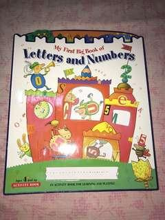 My first big book of letters and number