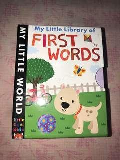 My little libaty of first words, isi 4 board book