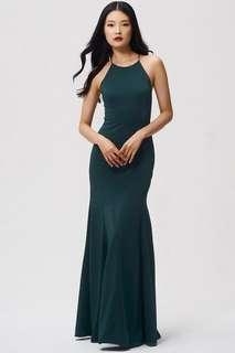 Jenny Yoo Emerald Green Dress
