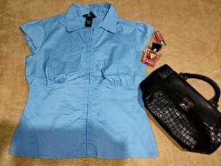 Moda international blue blouse ❤❤❤