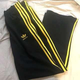 REDUCED: Adidas Pants in Yellow