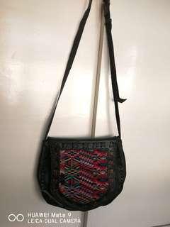Customized sling leather bag