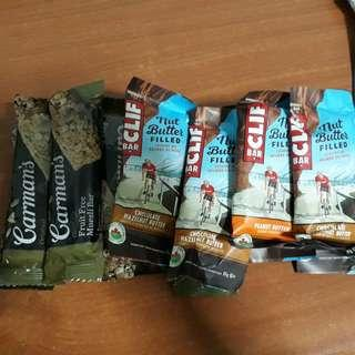 Clif Bars and Carman's Bars