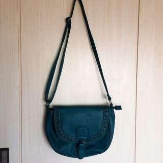 Teal Colored Sling Bag
