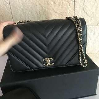 ALMOST NEW chanel statement bag black