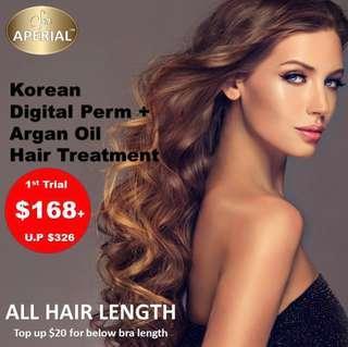 Loreal Korean Digital Perm + Argan Oil Hair Treatment