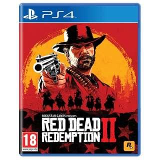 PS4 RED DEAD REDEMPTION 2 PRE-ORDER