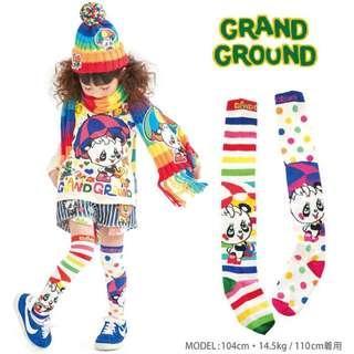 ⭐️日本潮童品牌❤️GrandGround 熊貓🐼彩色波點長襪