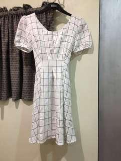 Shop Copper Plaid Dress