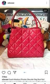 Coach Madison Phoebe Real Red