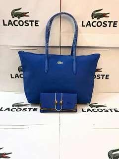 lacoste shoulder bag and wallet set