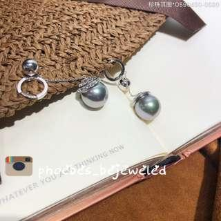 Fashion dangling pearl earrings dior design
