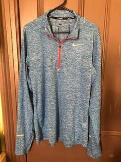 NIKE running DRI-FIT long sleeve blue workout top