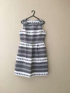 White Stripe Dress Size M