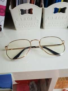 KOREA MYOPIC GOLD FRAME FASHION GLASSES