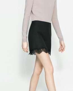 Zara Lace Mini Skirt
