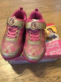 [全新低放] stride rite 閃閃公主波鞋 美國名牌健腳鞋 19.5w size 25.5 3.5-5歲 Baby Shoe princess belle 貝兒公主