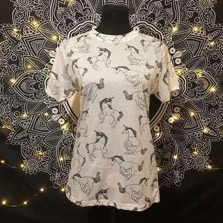 Bershka Basics Dept. Unicorn Tshirt