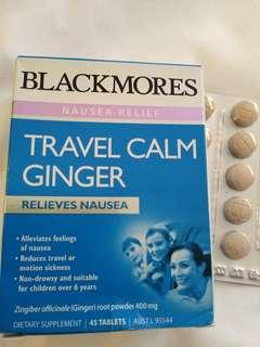 Blackmores Travel Calm Ginger Motion Sickness