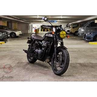 Bike Wash/ Detailing / Professional Grooming / Triumph Bonniville t120 Black
